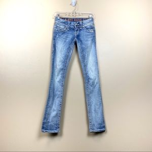 Rock revival Susan straight light wash jeans 23